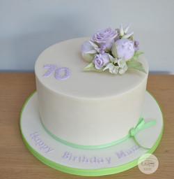 70th Birthday - Lilac Flowers