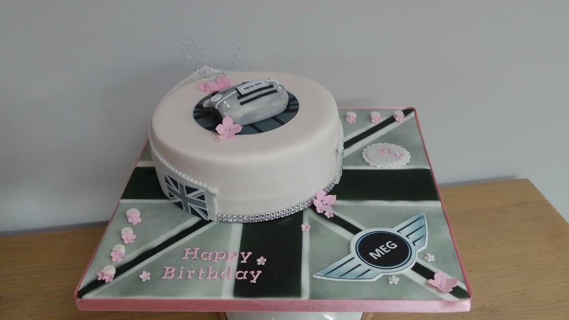 Mini Union jack cake