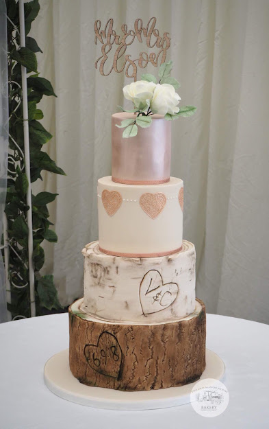 Log, Silver Birch and rose gold