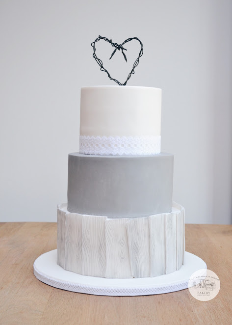 Grey Washed Wood Cake