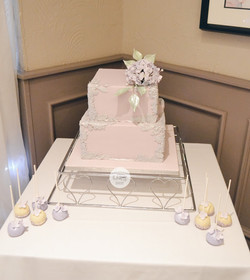 Lilac and Lace Wedding cake