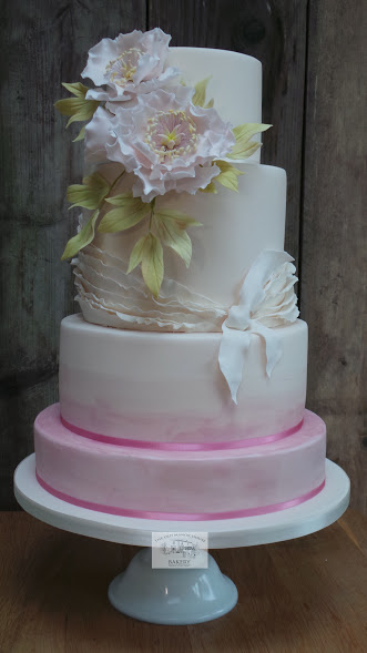 Flora and Frills Wedding Cake