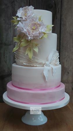 Flora and Frills Wedding Cake