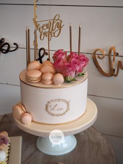 21st Macaron Box Cake