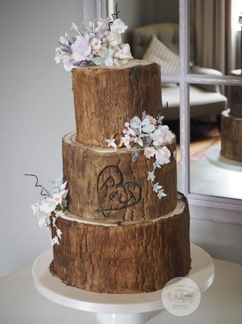 3 tier Log Cake
