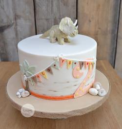 Triceratops 2nd Birthday Cake