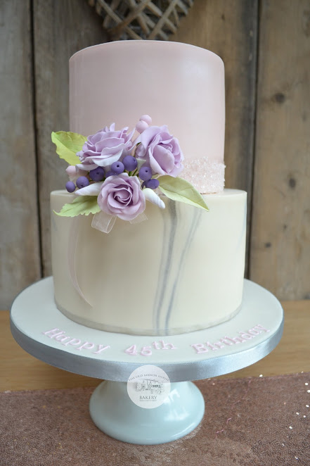Ladies 2 tier birthday cake