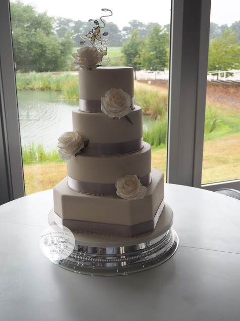 Ivory and Silver 4 tier