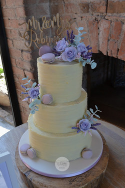 Buttercream and Lavender 3 tier