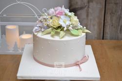 Sugar Flower Bouquet Cake