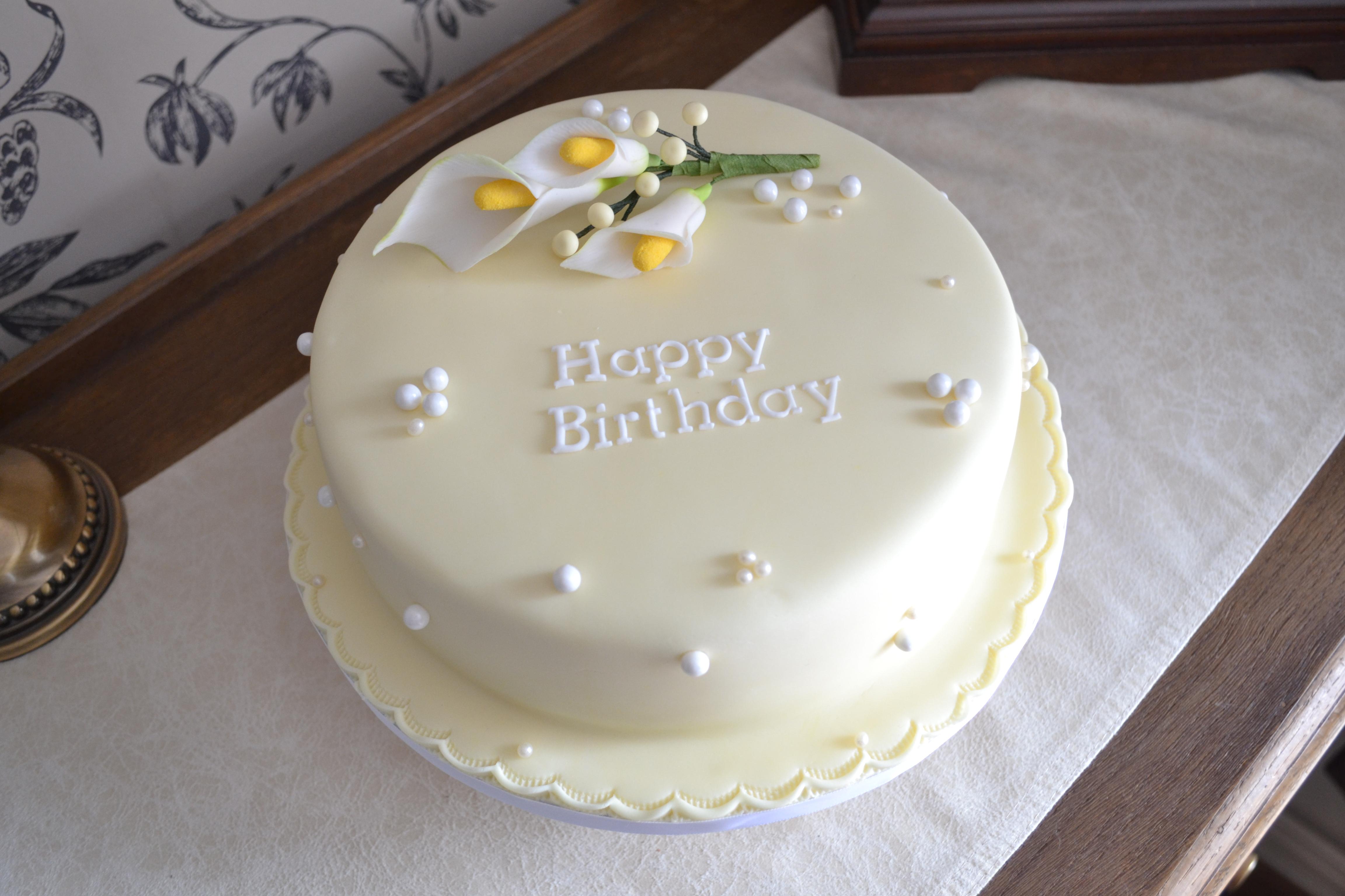 Cala Lily Birthday Cake