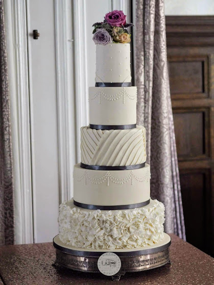 5 Tier Elegant Ruffles and Pleats