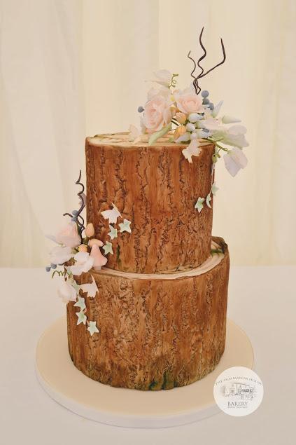 2 tier Log cake