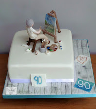 Artist 90th Birthday Cake