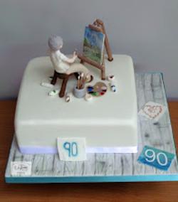 Artist 90th Birthday Cake