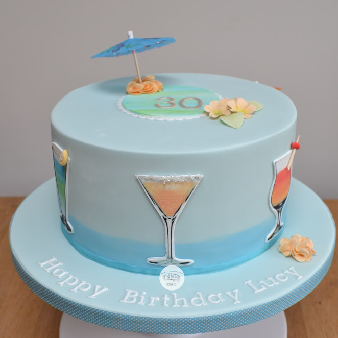 Cocktail Bithday cake