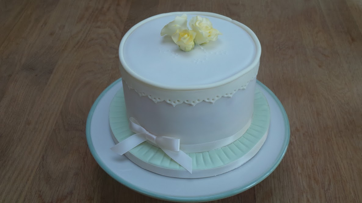Lace Trim Celebration Cake