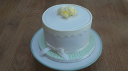 Lace Trim Celebration Cake