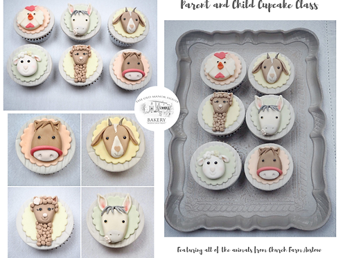 Parent and Child Farm Animal Cupcake Class 20th February 2019 10-12
