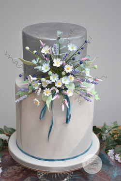 Boho Vintage Blue and Meadow Flowers