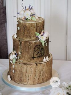 Log Wedding Cake