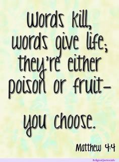 Bible Quote - Words are Fruit