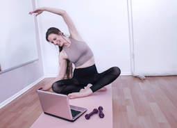 Training online Pilates und Plies
