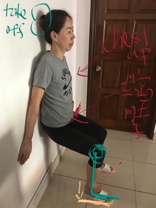 Wall Squat Alignment