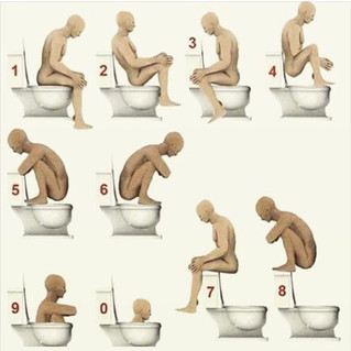 Constipation!!! The posture is wrong, get up and sit right!