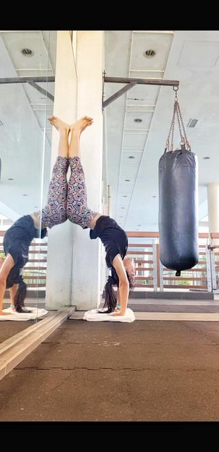 Squat to Handstand Practice