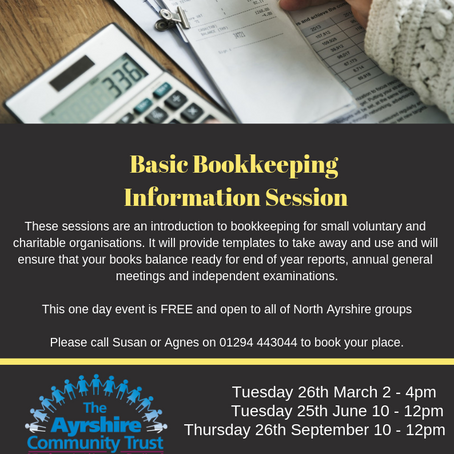 Basic Bookkeeping Information Session