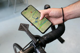 right2ride mount am Bike mit Navigation