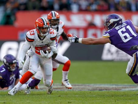 La defensa de Cleveland ahogó a los Vikings, que cayeron 14 a 7 contra los Browns
