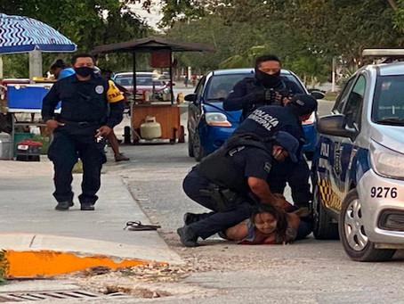Policías mexicanos matan a salvadoreña en Tulum durante brutal arresto