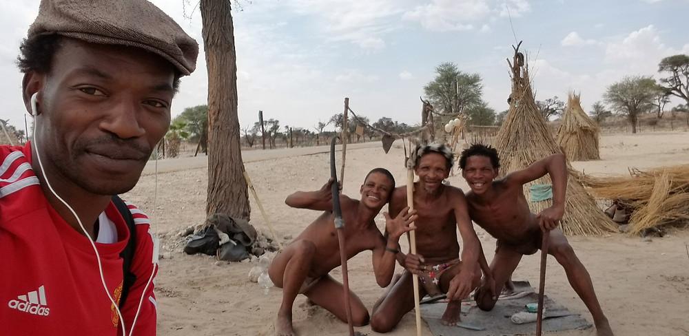 Patrick Kabeya in the Kalahari