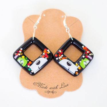 Geometric Earring | Handcrafted Earrings | Lightweight Earrings | Resin Earrings