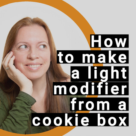 Light modifier from a cookie box