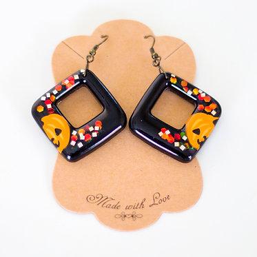 Geometric Earring   Handcrafted Earrings   Resin Earrings   Lightweight Earrings