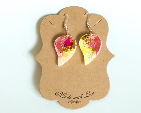 Leaf Shape Earring | Lightweight Earring | Resin Earrings | Handcrafted Earrings