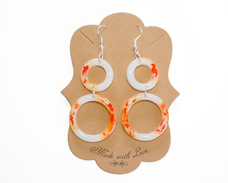 Geometric Earring | Handcrafted Earrings | Resin Earrings | Lightweight Earrings
