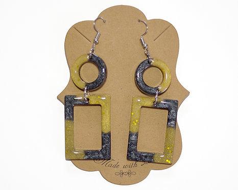 Geometric Earring | Lightweight Earrings | Resin Earrings | Handcrafted Earrings