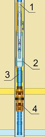 Глубинное оборудование для одновременно-раздельной добычи ШГН-ШГН