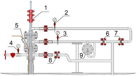 Устьевое оборудование для одновременно-раздельной добычи ШГН-ШГН