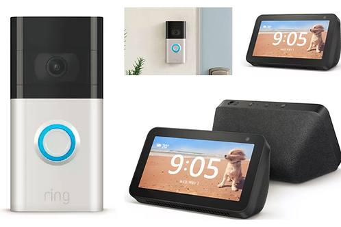 Ring Video Doorbell 3 + Echo Show 5 and Installation