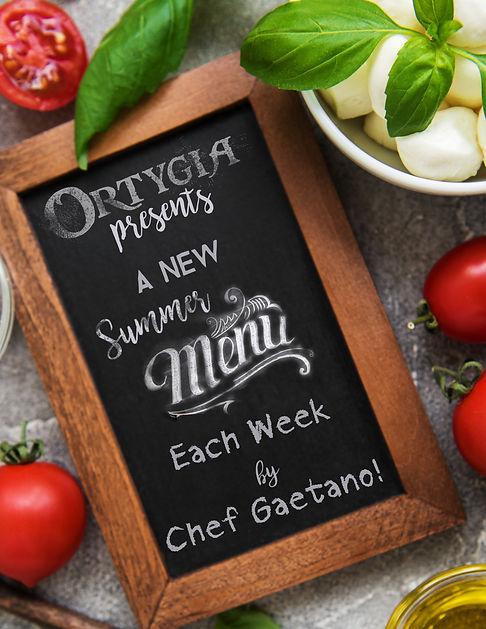 Ortygia Summer Menu