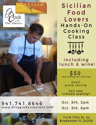 Ortygia Restaurant Cooking Class