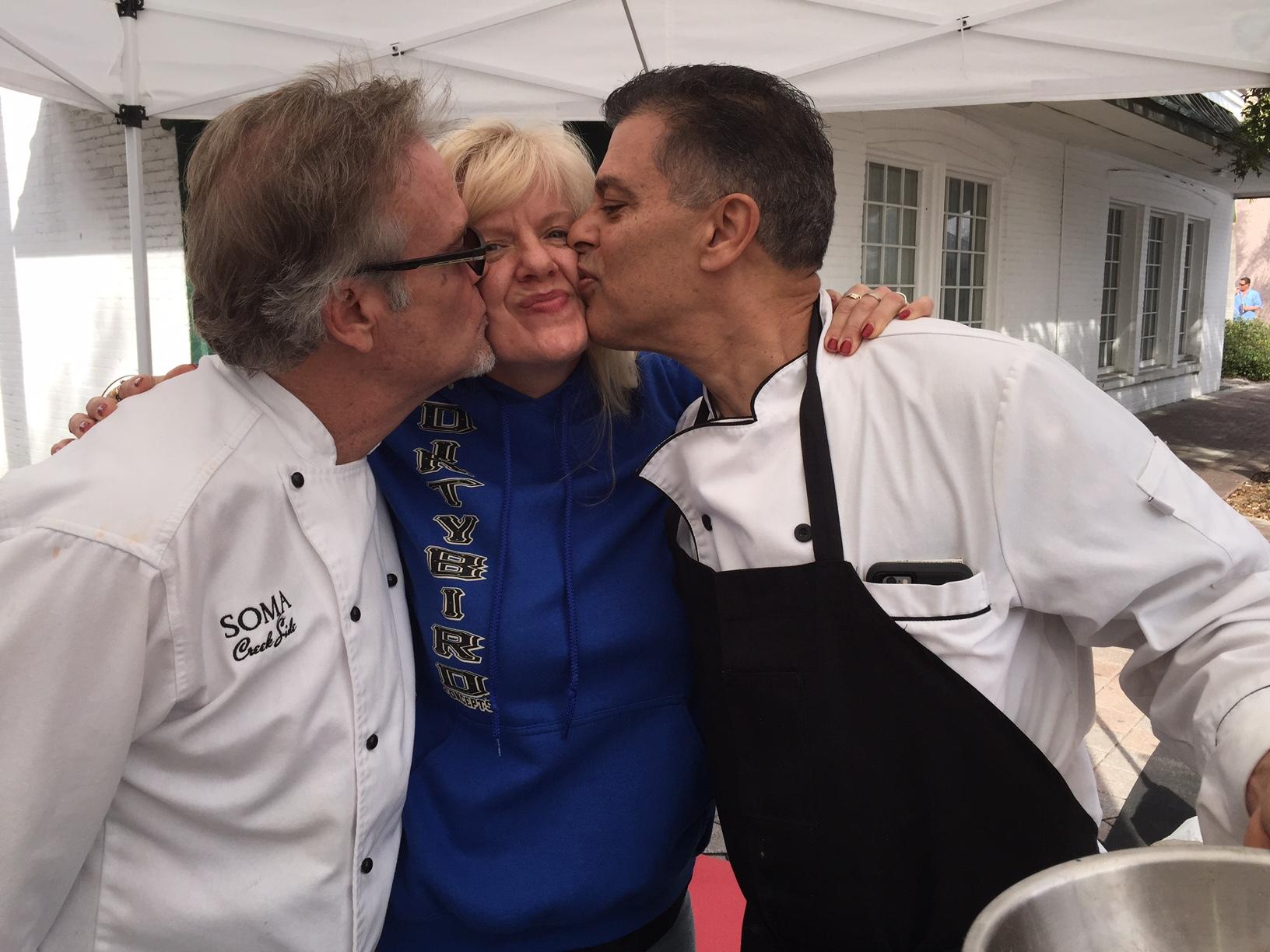 Chef Dave,Chef Gaetano, Rebecca Bird