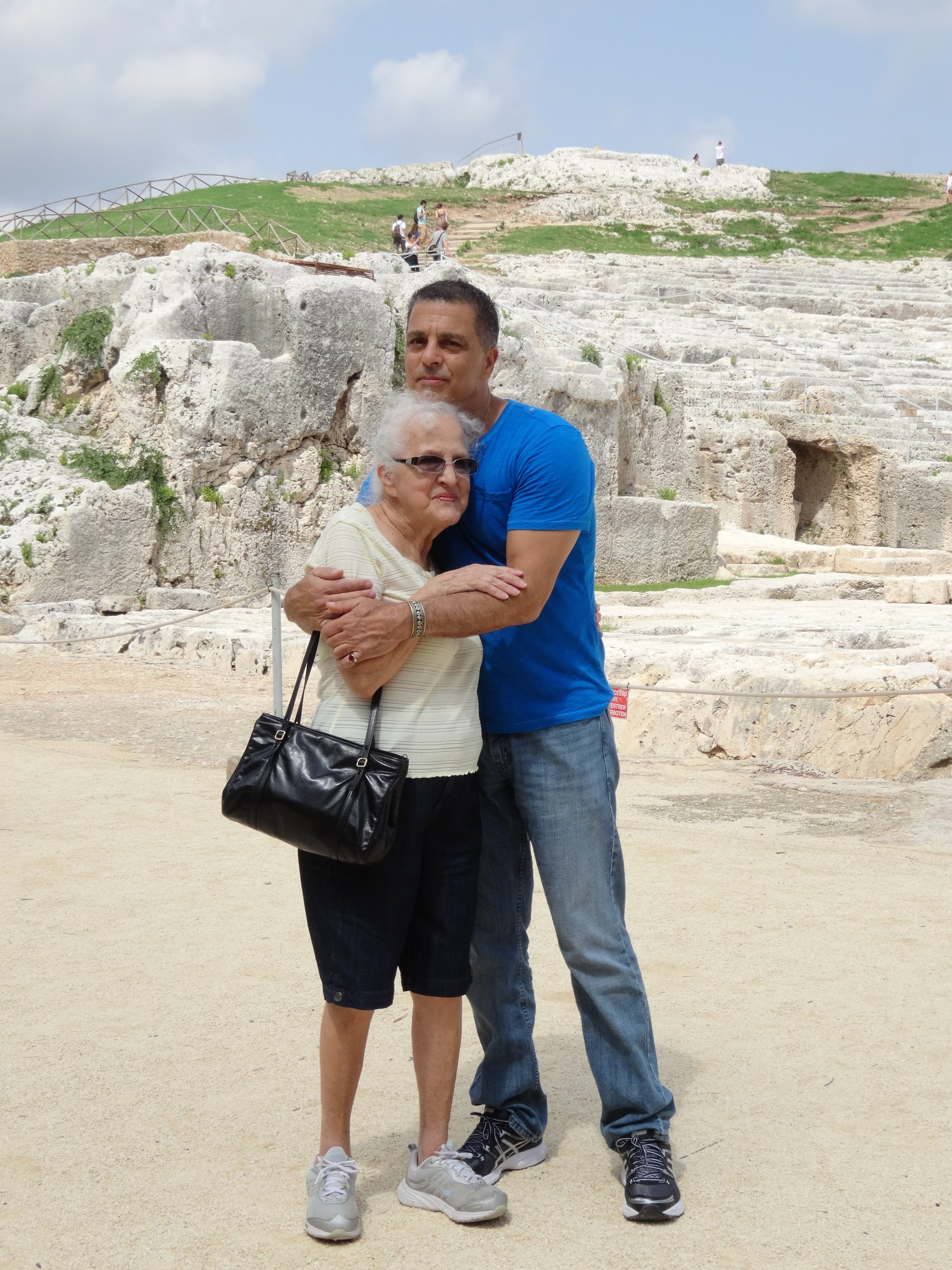 Chef and his Mom in Sicily!