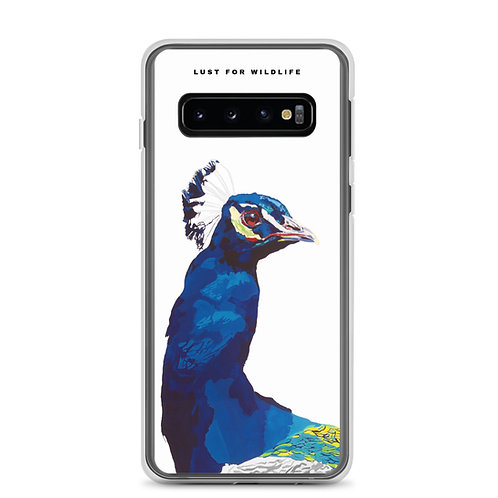 Peacock White Samsung Case