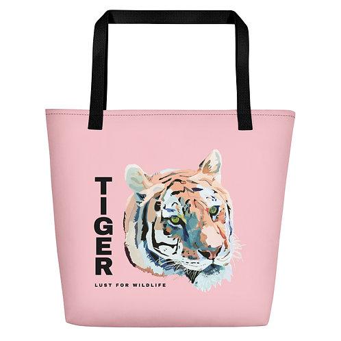 Tiger Pink Tote Bag